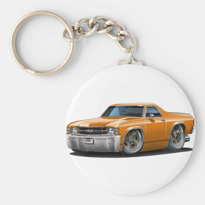 1971-72 El Camino Orange Truck Keychain