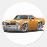 1971-72 El Camino Orange Truck Classic Round Sticker