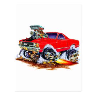 1971-72 El Camino Red-Black 4x4 Monster Truck Postcard