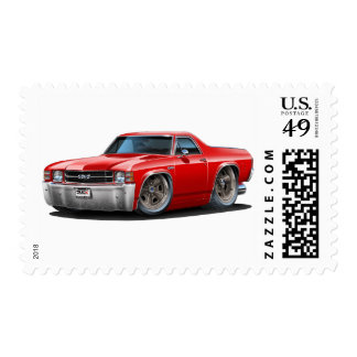 1971-72 El Camino Red Truck Postage Stamps