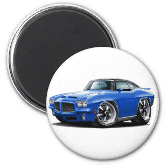 1971-72 GTO Blue-Black Top Car 2 Inch Round Magnet