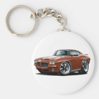 1971-72 GTO Bronze Car Basic Round Button Keychain