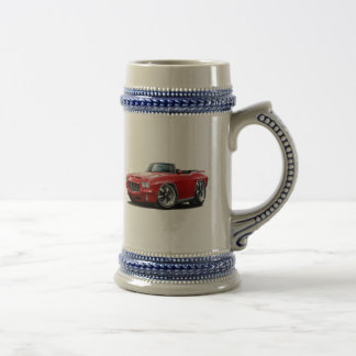 1971-72 GTO Red Convertible Beer Stein