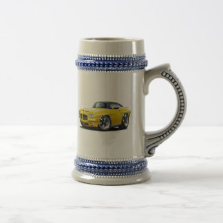 1971-72 GTO Yellow-Black Top Car Beer Stein