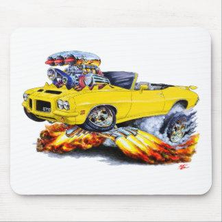 1971-72 GTO Yellow Convertible Mouse Pad