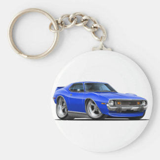 1971-72 Javelin Blue Car Basic Round Button Keychain