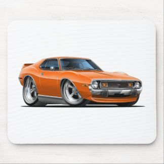 1971-72 Javelin Orange Car Mouse Pad