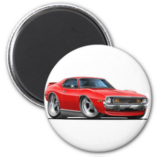 1971-72 Javelin Red Car 2 Inch Round Magnet