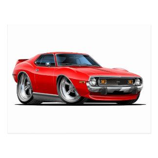 1971-72 Javelin Red Car Postcard