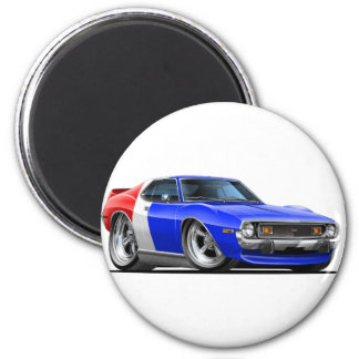 1971-72 Javelin Red White Blue Car 2 Inch Round Magnet