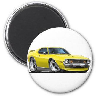 1971-72 Javelin Yellow Car 2 Inch Round Magnet