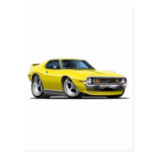 1971-72 Javelin Yellow Car Postcard
