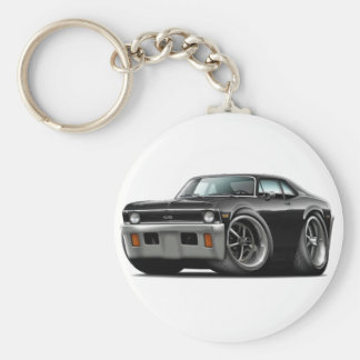 1971-72 Nova Black Car Keychain