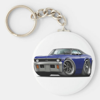 1971-72 Nova Dark Blue-Black Top Keychain