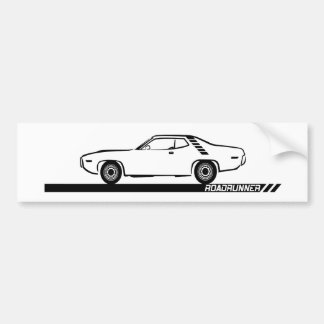 1971-72 Roadrunner Black Car Bumper Sticker