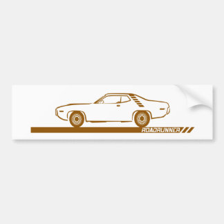 1971-72 Roadrunner Brown Car Bumper Sticker