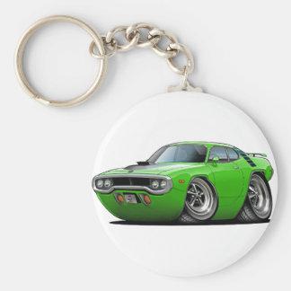 1971-72 Roadrunner Lime-Black Car Keychain