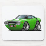 1971-72 Roadrunner Lime-Black Top Car Mouse Pad