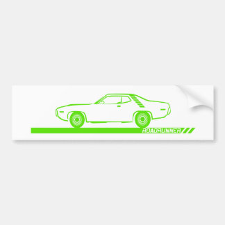 1971-72 Roadrunner Lime Car Bumper Sticker