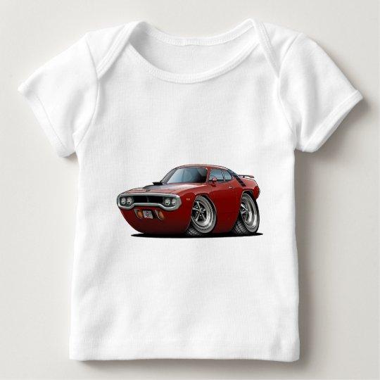 1971-72 Roadrunner Maroon-Black Car Baby T-Shirt
