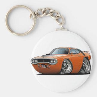1971-72 Roadrunner Orange-Black Car Keychain