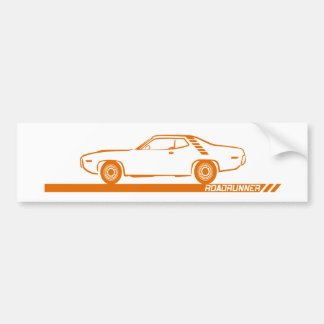 1971-72 Roadrunner Orange Car Bumper Sticker