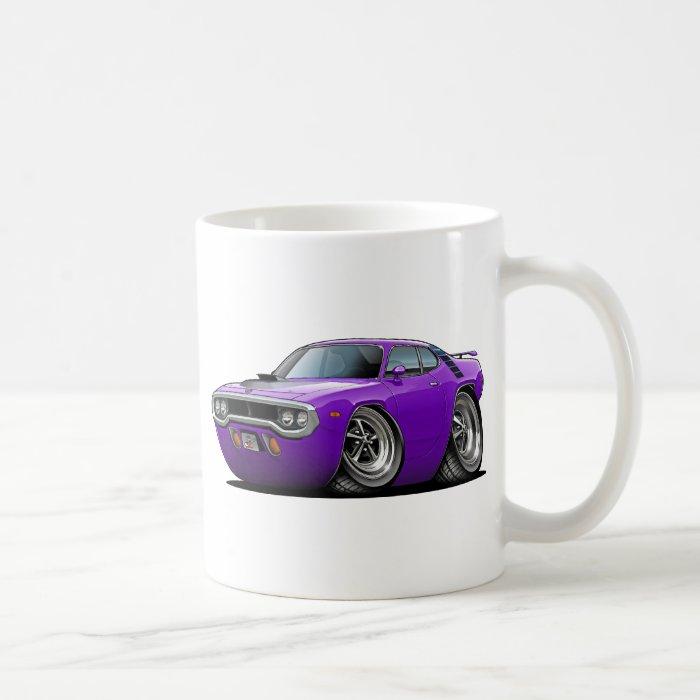 1971-72 Roadrunner Purple-Black Car Coffee Mug