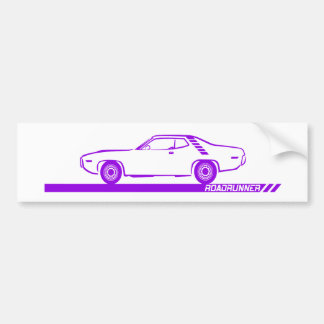 1971-72 Roadrunner Purple Car Bumper Sticker