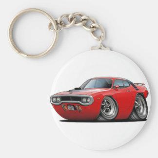 1971-72 Roadrunner Red-Black Car Keychain