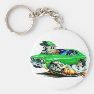 1971-74 Nova Green Car Basic Round Button Keychain
