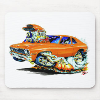 1971-74 Nova Orange Car Mouse Pad