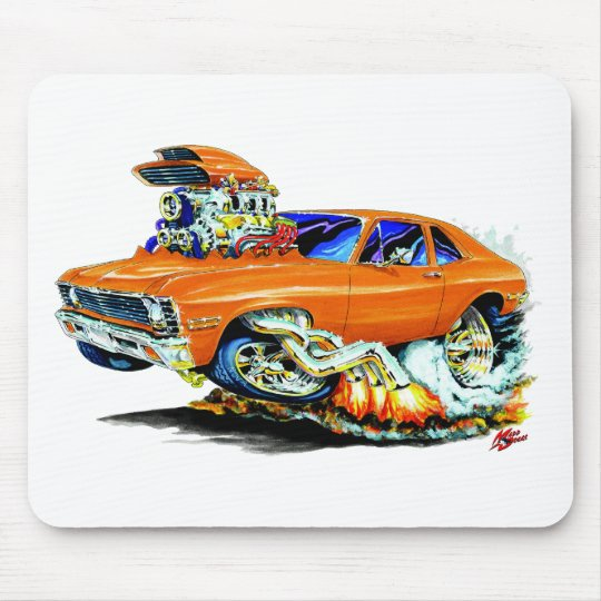 1971-74 Nova Orange Car Mouse Pad