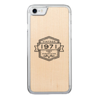 1971 Aged To Perfection Carved iPhone 7 Case