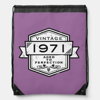 1971 Aged To Perfection Drawstring Backpack