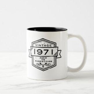 1971 Aged To Perfection Two-Tone Coffee Mug