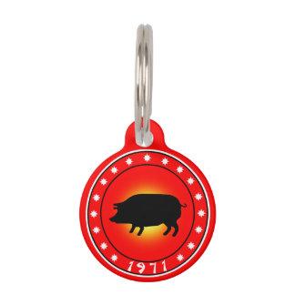 1971 años del cerdo identificador para mascota