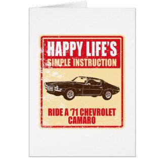 1971 Chevrolet Camaro Card