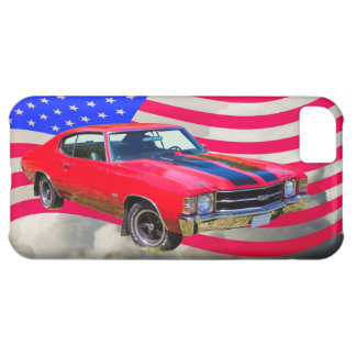 1971 chevrolet Chevelle SS And American Flag iPhone 5C Covers