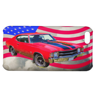1971 chevrolet Chevelle SS And American Flag iPhone 5C Cover