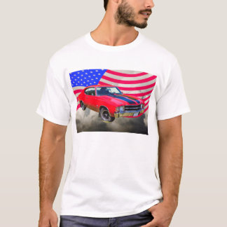1971 chevrolet Chevelle SS And American Flag T-Shirt