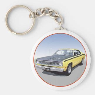 1971 Duster 340 Basic Round Button Keychain