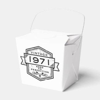 1971 envejecido a la perfección caja para regalo de boda