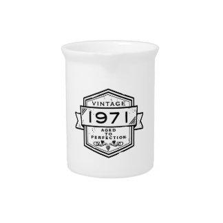 1971 envejecido a la perfección jarras para bebida