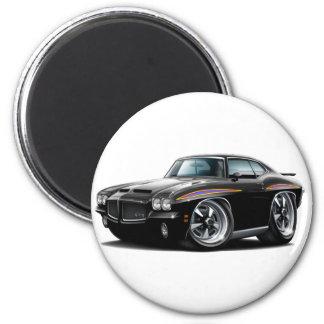 1971 GTO Judge Black Car 2 Inch Round Magnet