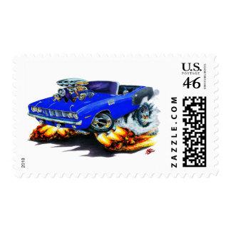 1971 Hemi Cuda Blue Convertible Stamp