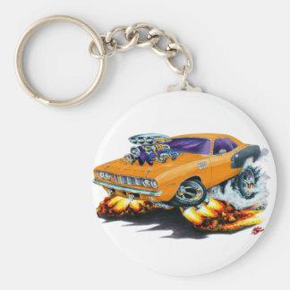 1971 Hemi Cuda Orange Car Keychain