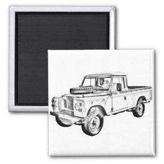 1971 Land Rover Pick up Truck Illustration Magnet