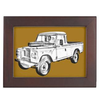 1971 Land Rover Pick up Truck Illustration Memory Box