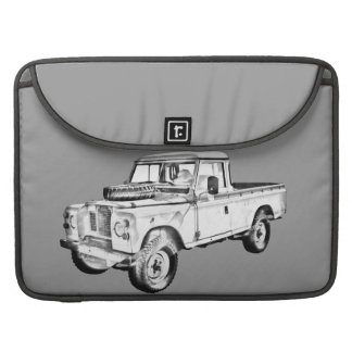 1971 Land Rover Pick up Truck Illustration Sleeve For MacBook Pro