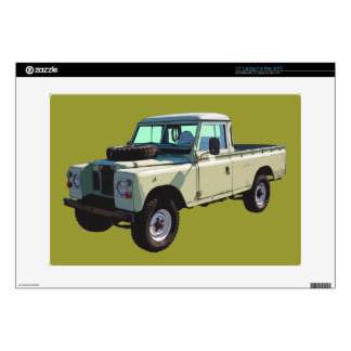 """1971 Land Rover Pickup Truck 15"""" Laptop Decal"""